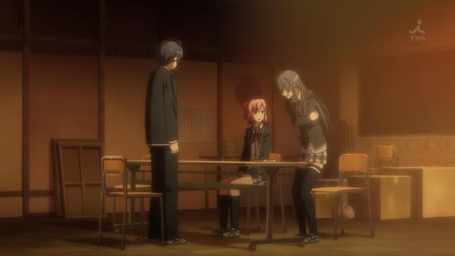 Spring 2015 Season Anime Review Power Rankings - OreGairu Zoku episode 8. Hikigaya Hachiman, Yukinoshita Yukino, Yuigahama Yui, a fraught relationship